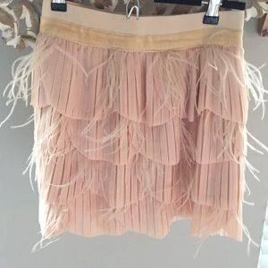 Arden B. Scalloped feather skirt size xs